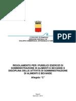 Piano di sviluppo dell'artigianato - Regolamento Pubblici Esercizi