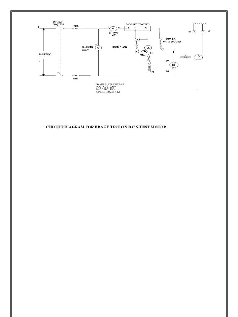 Brake test on dc shunt motor theory pdf editor