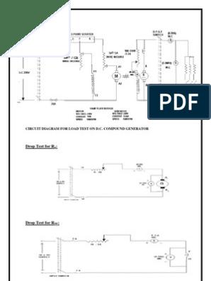 Load Test on Dc Compund Generator   Electric Generator ... Dc Compound Motor Wiring Diagram on