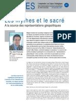 Les mythes et le sacré - Note d'analyse Géopolitiques n°48