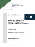 Estado de la práctica de la Ingeniería de Requisitos en proyectos de Software Open Source