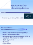 The Importance of the Neutral Grounding Resistor - Nov 06