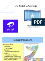 Introduce Airtel in Somalia