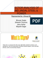 Cross Sector Analysis of Wipro and Jindal Steel
