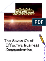 The Seven C's of Effective Business Communication.