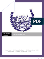 FINANCIAL ANALYSIS OF DEWAN MUSHTAQ GROUP