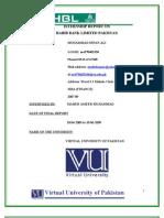 Hbl Internship Replort for Finance