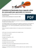 Prefeitura de Queimadas lança segundo edital de convocação para aprovados no concurso