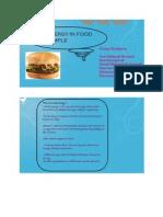 Data Logging- Food Energy