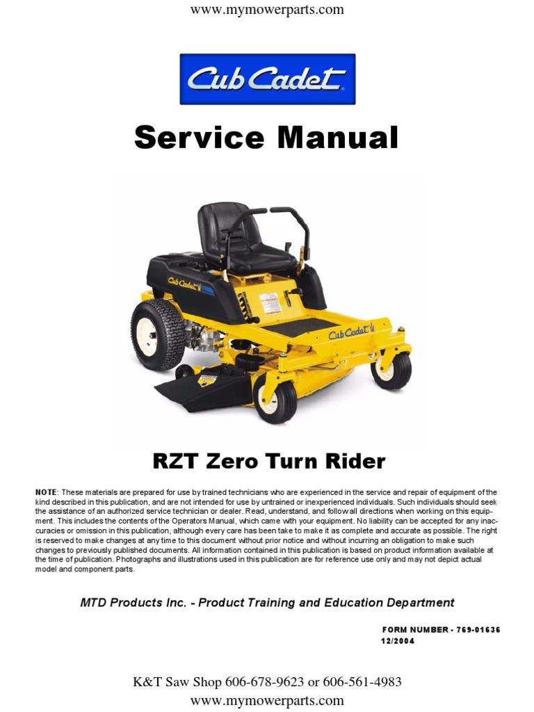 cub cadet rzt series zero turn service repair manual 1 switch screw rh scribd com cub cadet rzt 22 service manual cub cadet rzt 17 service manual
