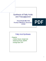 Lipid Metabolism-2 Synthesis of Fatty Acids