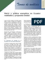 Matriz y política energética en Ecuador - Miguel Castro