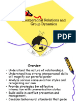 OB Interpersonal Relations & Group Dynamics