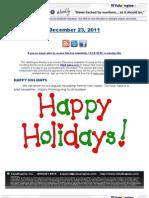 ValuEngine Weekly Newsletter December 23, 2011