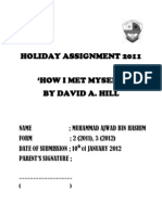 Holiday Assignment 2011; How I met Myself