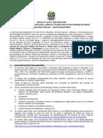 Edital 36 2011 Docente Vagas Gerais Retificado 01