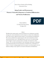 Women and Nuclear Weapons Nonviolent Responses to Gendered Militarization and Nuclear Proliferation