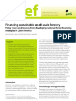 Financing Sustain Table Small-scale Forestry