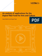 An analysis of applications for the Digital R&D Fund for Arts and Culture