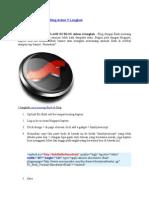 Cara Pasang Flash Di Blog Dalam 5 Langkah