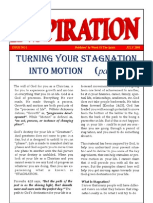 TURNING YOUR STAGNATION INTO MOTION - NEWSLETTER | Adam | Eve