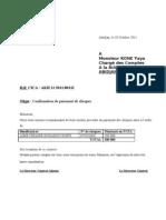 courrier de confirmation de chèque  n°17 du 061011