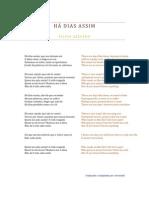 Filipa Azevedo - Há Dias Assim (tradução para inglês)