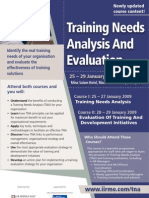Training Needs Analysis & Evaluation