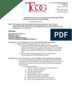 CEDS Texoma Economic Strategy Timeline and Process