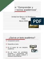 Comp Render y Redactar Textos Academicos