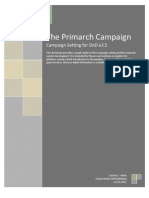 Primarch Campaign New Player Reference Guide