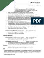 Resume - Drew Sellers