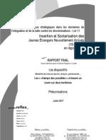 Insertion Scolarisation Des Jeunes Etrangers Nouvellement Arrivés en France âgés de 15 à 18 ans