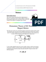 DC motors parameter estimation