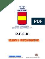 Rfek-reglas de Competicin Kata Kumite 7.1 en Vigor 01.01.2012