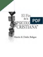 """El Fin de la """"Psicología cristiana"""""""