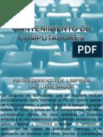 MANTENCIÓN DE COMPUTADORES