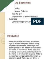 Water and Economics