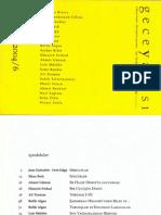 Ahmet Bozkurt, Şiirsel Adalet, GECEYAZISI, 2004, Sayı 6.
