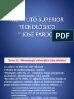 Mineralogía sistemática I (no silicatos)