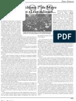 1919 el Ultimo Primero de Mayo bajo el Capitalismo (Pascual Muñoz)