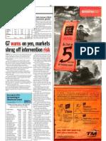 The Sun 2008102819 G7 Warns on Yen