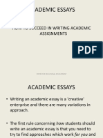 Academic Skills Essay Writing