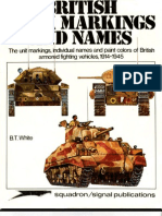 British Tank Markings and Names 1914-1945