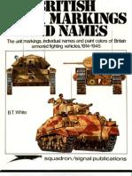 British Tank Markings and Names 1914-1945