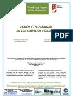 PODER Y TITULARIDAD EN LOS SERVICIOS PÚBLICOS - POWER AND OWNERSHIP IN PUBLIC SERVICES (Spanish) - AHALMENA ETA JABETZA ZERBITZU PUBLIKOETAN (Espainieraz)
