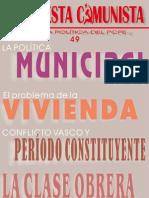 Propuesta Comunista, nº 49, marzo 2007