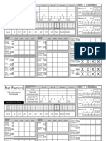 Star Warriors Ship Sheets