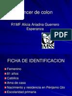 CÁNCER DE COLON caso clínico AAGE