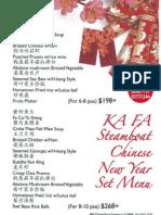 KA FA Steamboat Chinese New Year Set Menu